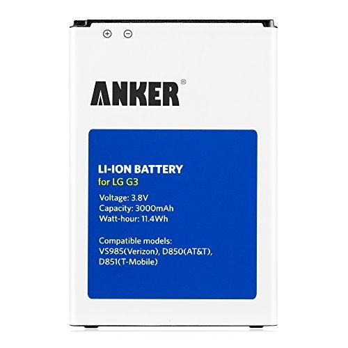 Click to buy Anker 3000mAh Li-ion Battery for LG G3, D851(T-Mobile), D850(AT&T), VS985(Verizon), LS990(Sprint), fits BL-53YH, [18-Month Warranty] - From only $55