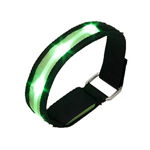 high-visibility-running-cycling-adjustable-reflective-led-flashing-fabric-armband-green