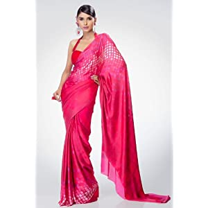 Satya Paul RD5485|Saree|Pink|Georgette