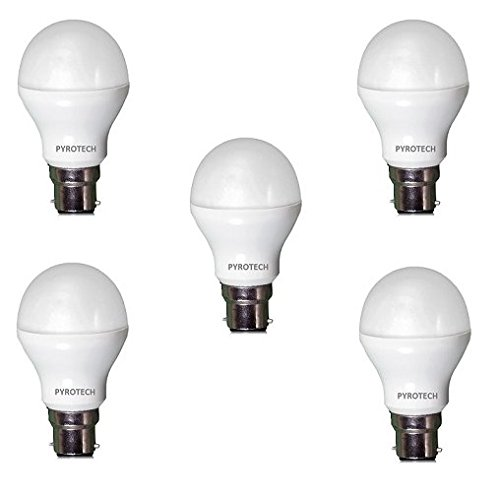 Pyrotech 12W LED Bulb (Cool White, Pack of 5)