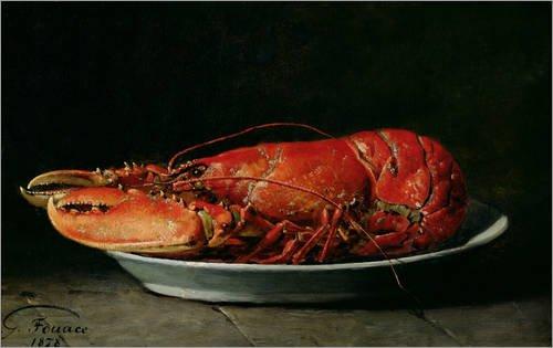 Impression sur verre acrylique 50 x 30 cm: Lobster de Guillaume Romain Fouace / Bridgeman Images