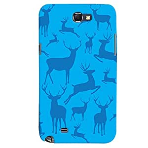 ColourCrust Samsung Galaxy Note 2 Mobile Phone Back Cover With Animal Pattern Style - Durable Matte Finish Hard Plastic Slim Case