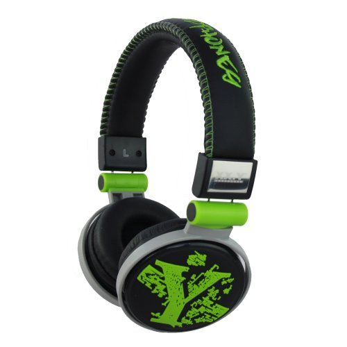 Xx.Y Top Sound 3D On-Ear Headphones For Mp3 Players / Smartphones Stereo Leather Green