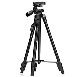 YunTeng VCT-5208 50 inch Lightweight Aluminum Tripod With Bluetooth Remote Control For DSLR & Smartphones