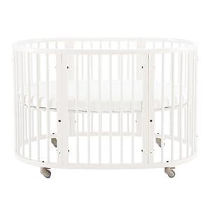 Amazon Com Stokke Sleepi Crib White Mini Oval Cribs