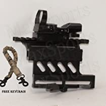 Quick Detach Tactical AK47 Saiga Double Rail Side Mount+Tactical R&G Illuminated 4 Reticle Dot Sight