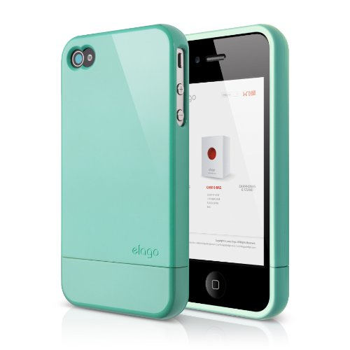 elago S4 Glide Case for iPhone 4/4S AT&T, Sprint and Verizon - Coral Blue