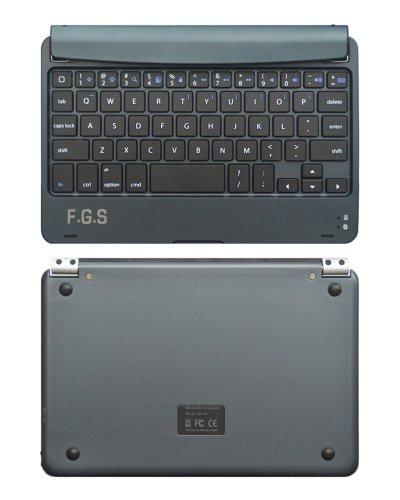 「iPad mini 用 ワイヤレス キーボード  ダークブルー/スレート iPad ミニをノートパソコン感覚で使える一体型 無線キーボード・Bluetooth・iOS 6.1.3 対応・iPhone&iPad