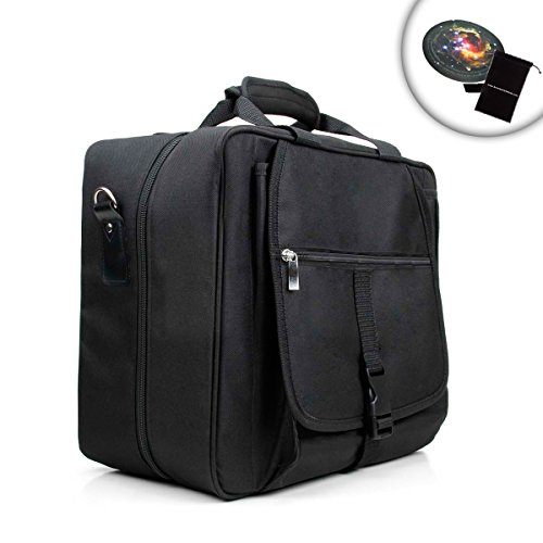 Compact Travel Safe Dj Mixer Carrying Case With Padded Accessory Pouch - Holds Mixers And Controllers Including Behringer Xenyx 802 , Behringer Xenyx 502 , Traktor Kontrol X1 , Maschine Mikro Mkii And More! *Includes Bonus Mouse Pad And Accessory Bag*