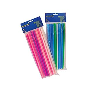 Disney Drinking Straws Solid colour flexi straws