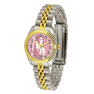 Wyoming Cowboys Executive Ladies Watch with Mother of Pearl Dial by SunTime