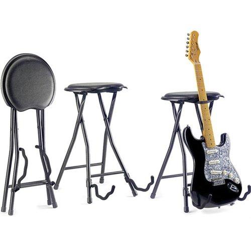 Rocket - Tabouret avec stand intégré pour guitare