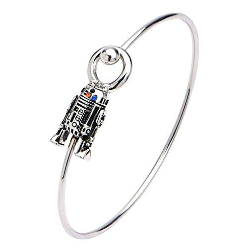 Acciaio inossidabile di ufficiale Star Wars R2-D2 e del braccialetto - Boxed