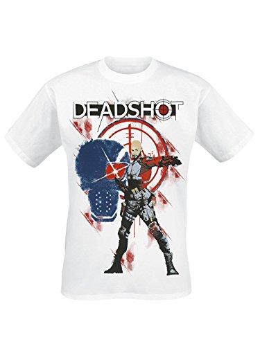 Suicide Squad Deadshot Skull T-Shirt bianco XXL