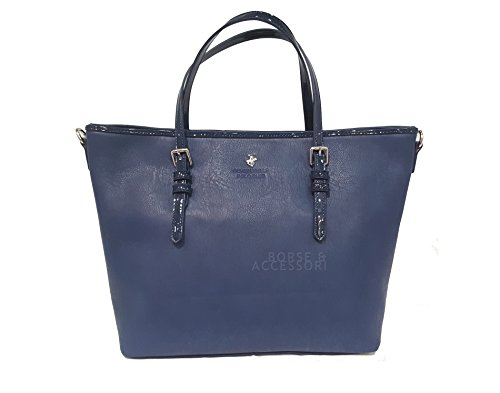 Beverly Hills POLO Club Borsa Shopping Tote donna due manici BH722 blu