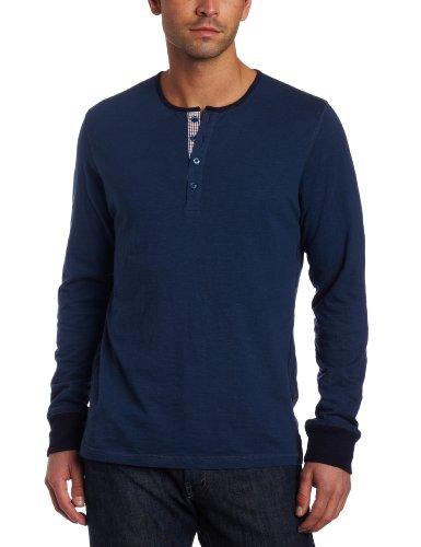 Ben Sherman Men's Long Sleeve Slub Henley Shirt