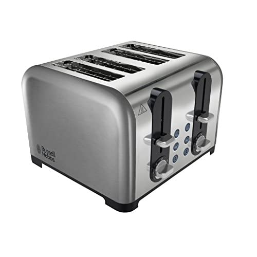 Russell Hobbs 4 Slice Brushed  Polished Wide Slot Toaster