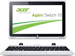Acer Aspire Switch 10 SW5-011 25,7 cm (10,1 Zoll) Convertible Notebook (Intel Atom Z3745, 1,3GHz, 2GB RAM, 64GB eMMC, Intel HD Grafik, Win 8.1) grau