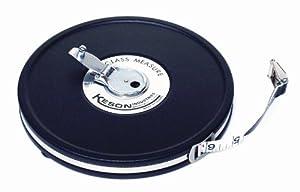 Keson MC10M100 100 Feet Closed Metal Housing Fiberglass Measuring Tape in Metric and Tenths