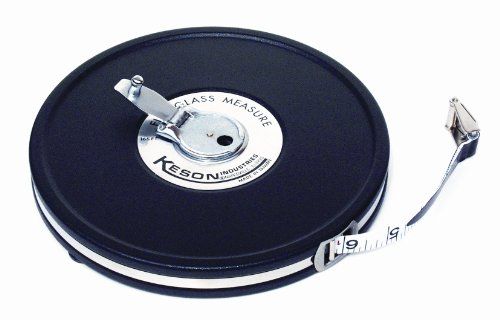 Keson MC1810100 100 Feet Closed Metal Housing Fiberglass Measuring Tape in Feet, Inches and Tenths