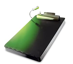 Saunders RediMate with Green Light Storage Clipboard, Black (00655)