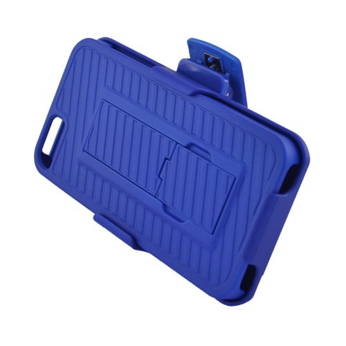 Eagle Cell Paiphone5Rxxsthlbl Hybrid Rugged Armor Case For Iphone 5 - Retail Packaging - Blue