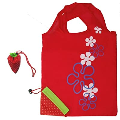 HomeFlav Assorted Color Grocery Bag Shopping Bag Eco Bag Foldable Reusable Eco friendly Strawberry - 10 pcs