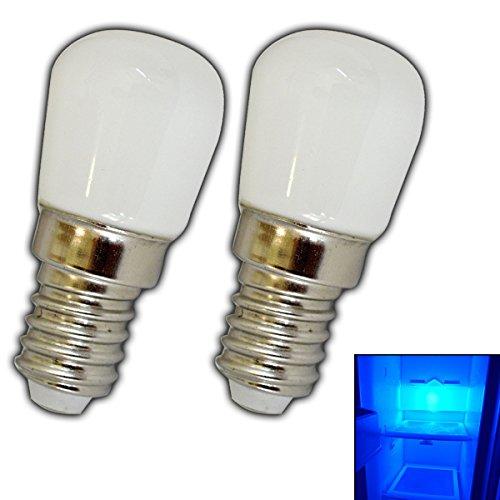 2x-Stk-E14-LED-Lampe-15-Watt-blau-Blaulicht-fr-den-Khlschrnke-Lampen-uvm-E14SES-Leuchtmittel-Khlschrank-Birne-Glhbirne-Ersatz