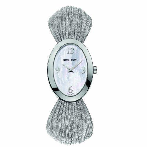 Nina Ricci N035 N03513731 Silver Steel Bracelet & Case Synthetic Sapphire Women's Quartz Watch