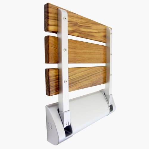 Teak Wood Folding Shower Seat Bench Spa Comfort Bath Decor Wall Mounted Chair Ebay