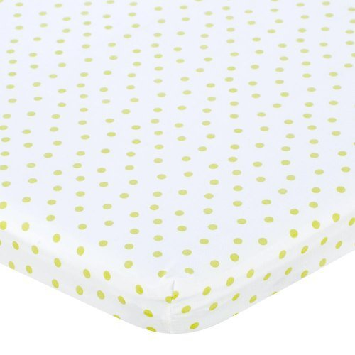 Babies R Us Percale Bassinet Sheet - Lime Dot - 1