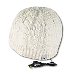 Tooks IVY Headphone Hat With Built-in Removable Headphones - COLOR: WINTER WHITE
