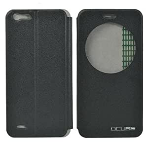 View Window PU Leather Protective Case For CUBOT X10-Black