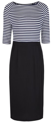 Lindy Bop 'Sylvie' Chic Vintage French Style Breton Top Pencil