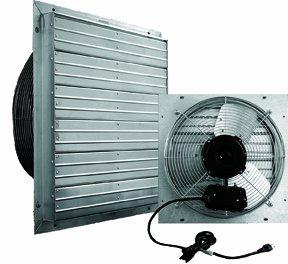 16 exhaust shutter fan wall mount