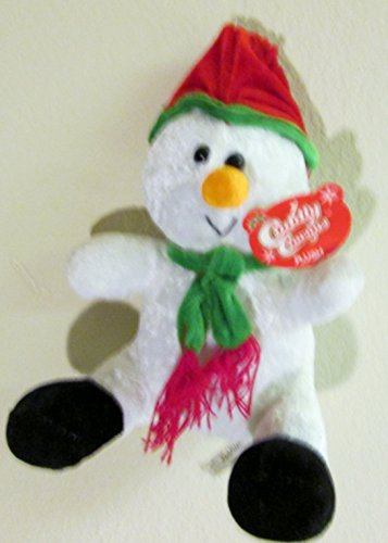 "Cuddly Cousins Plush Christmas Snowman 8"" Sitting - 1"