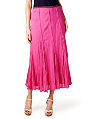 Per Una Pure Cotton Crinkle Effect Maxi Skirt