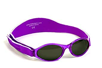 Baby Banz - Lunette de soleil ABBPU Ovale  - Fille, Purple