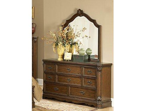 Montrose Dresser & Mirror By Homelegance In Brown Cherry front-538726