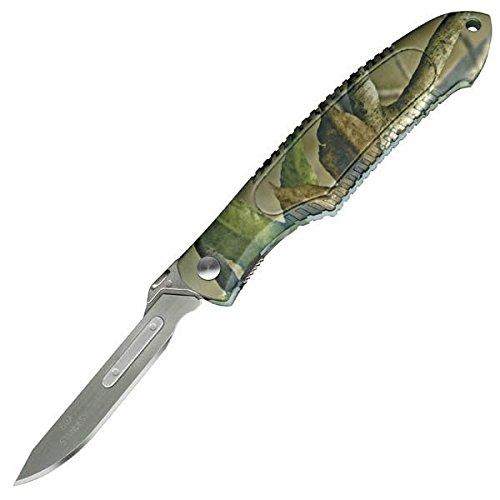 Havalon Piranta Camo Skinning Knife W/Easy Grip Xti-60Apramo