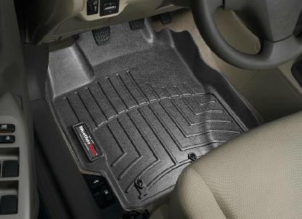 2007-2011 Toyota Yaris Black WeatherTech Floor Liner (Full Set) [Hatchback] (Toyota Yaris Weathertech compare prices)