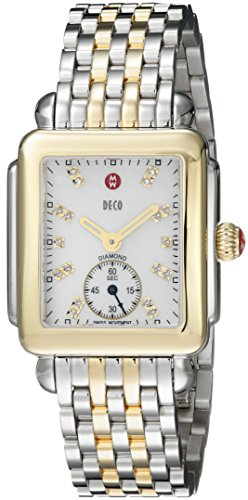 MICHELE-Womens-MWW06V000042-Deco-16-Diamond-Accented-Stainless-Steel-Watch
