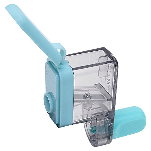 カール事務器 鉛筆削り クルクル ライトブルー CPS-85-T