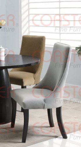 black friday set of 2 parson dining chairs with curved back in gray