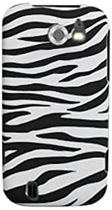 CP 817760042924 Snap-On Hard Case for ZTE Flash N9500 - 1 Pack - Non-Retail Packaging - Zebra