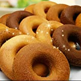 豆乳おから焼きドーナツ♪油で揚げずにじっくり焼いた◆砂糖0使用・低GI・低カロリー◆目指せ-5kg!