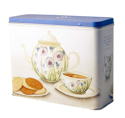Artisan Biscuits Elegant & English Gift Tin  (Vanilla & Cream Ginger & Lemon Choc & Raspberry) 3 x 125 g