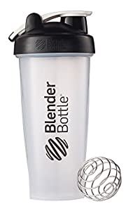 BlenderBottle Classic Loop Top Shaker Bottle, Clear Black, 28 Ounce