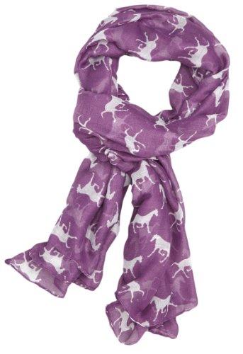 a168-women-scarf-horses-print-design-ladies-scarves-shawl-wrap-purple