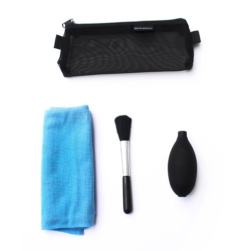 Storm Mart 3-In-1 Cleaning Kit Set - Clean Brush/Small Black Silicon Air Blower/Cloth In A Small Carrying Case For Nikon D3,D90,D800,D7100,D7000,D5100,D5200,D3100,D3200,Canon 70D,50D,60D,7D,5D,6D,550D,600D,650D,700D,1100D,Sx500,Sx50,G15 G16,Olympus E3,E5,
